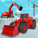 City Construction Snow Excavator Simulator Game icon