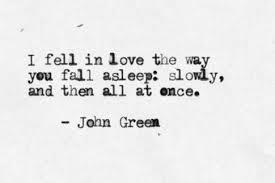 Bildresultat för as he read i fell in love with him the way you fall asleep