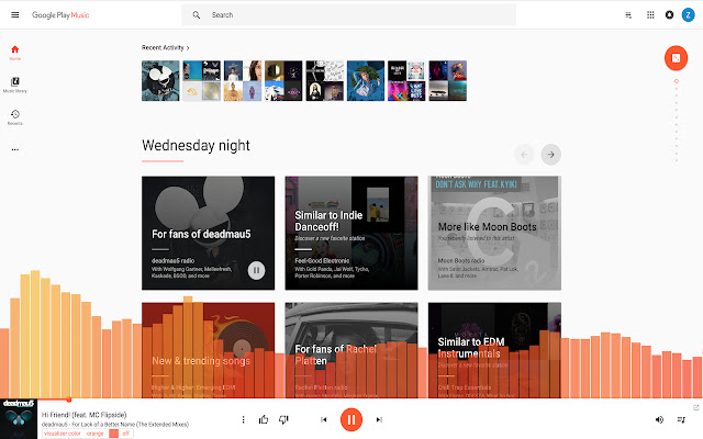 Google Music Visualizer