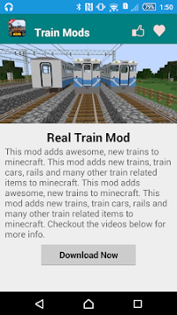 Download Train Mod For MCPE! APK latest version app for android devices