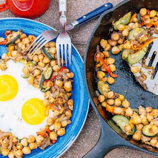 Chickpea Breakfast Hash with Veggies.