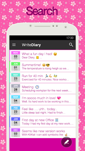 Diary with lock for PC