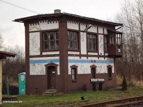 Photo: Nastawnia wykonawcza w zach. części stacji