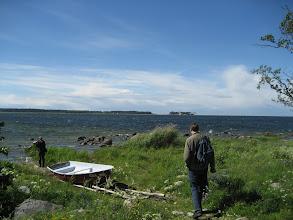 Photo: Baltic Sea near  Kasmu. Low salt so reeds grow into the sea
