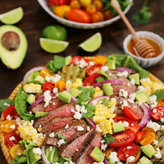 Mexican Grilled Steak Salad with Honey Lime Dressing.