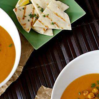 Egyptian Lentil Soup & Chive Flatbreads.