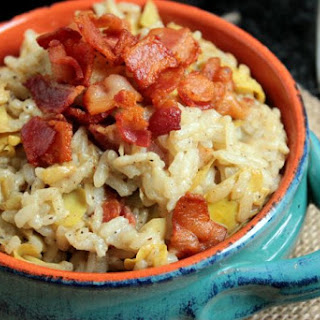 Bacon and Artichoke Risotto.