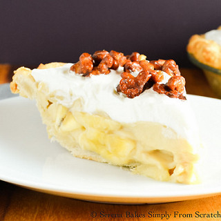 Butterscotch Banana Pudding Pie with Toffee Walnuts