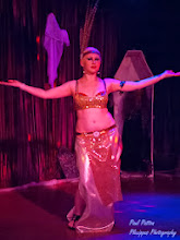 Photo: Vaudevillian Belly Dance Costume (Rents with all 3 pieces, including feather headpiece! Reserve for parties or Halloween!)
