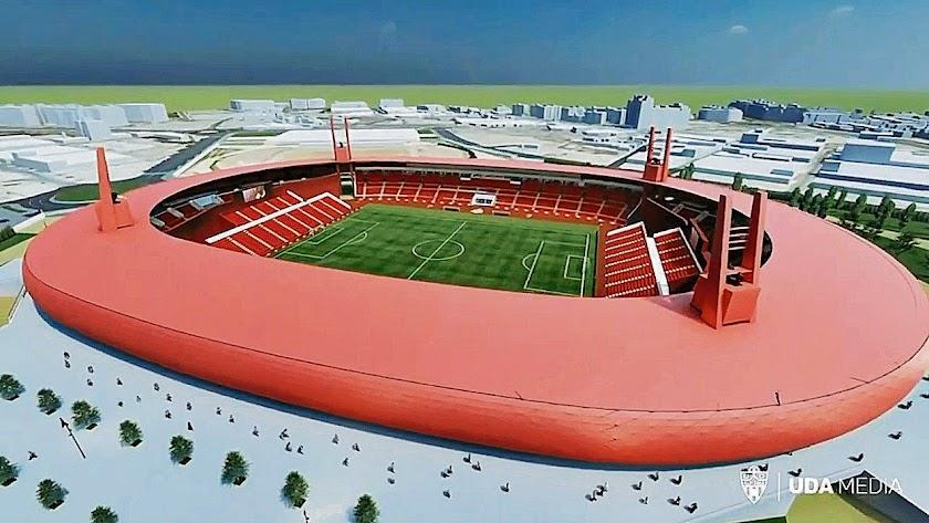 Recreación del estadio mediterráneo tras la remodelación prevista