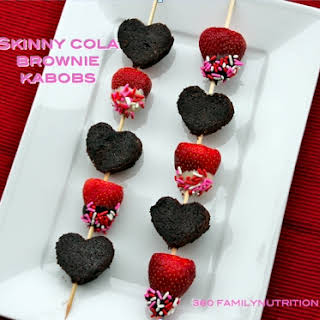 Valentines Day Brownie Kabobs.