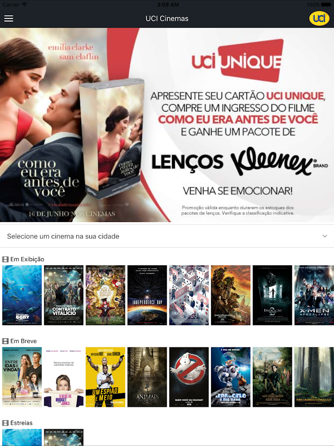 UCI Cinemas BR- screenshot