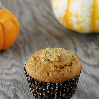Sunday Morning Muffins  (pumpkin muffins with cream cheese and a streusel topping).