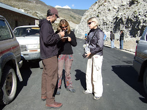Photo: Nyalam Tibet, Miltary checkpoint with Gavan, Suzie, and Squash