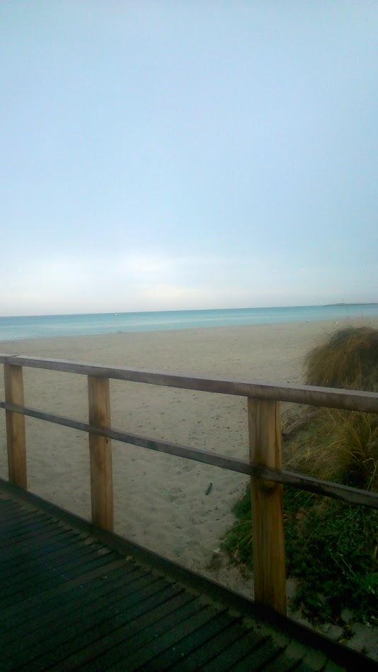 Пасмурное утро на пляже Ла Чинта