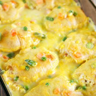 Chicken Pot Pie Rollups.
