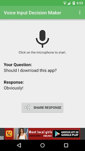 玩娛樂App|Voice Input Decision Maker免費|APP試玩