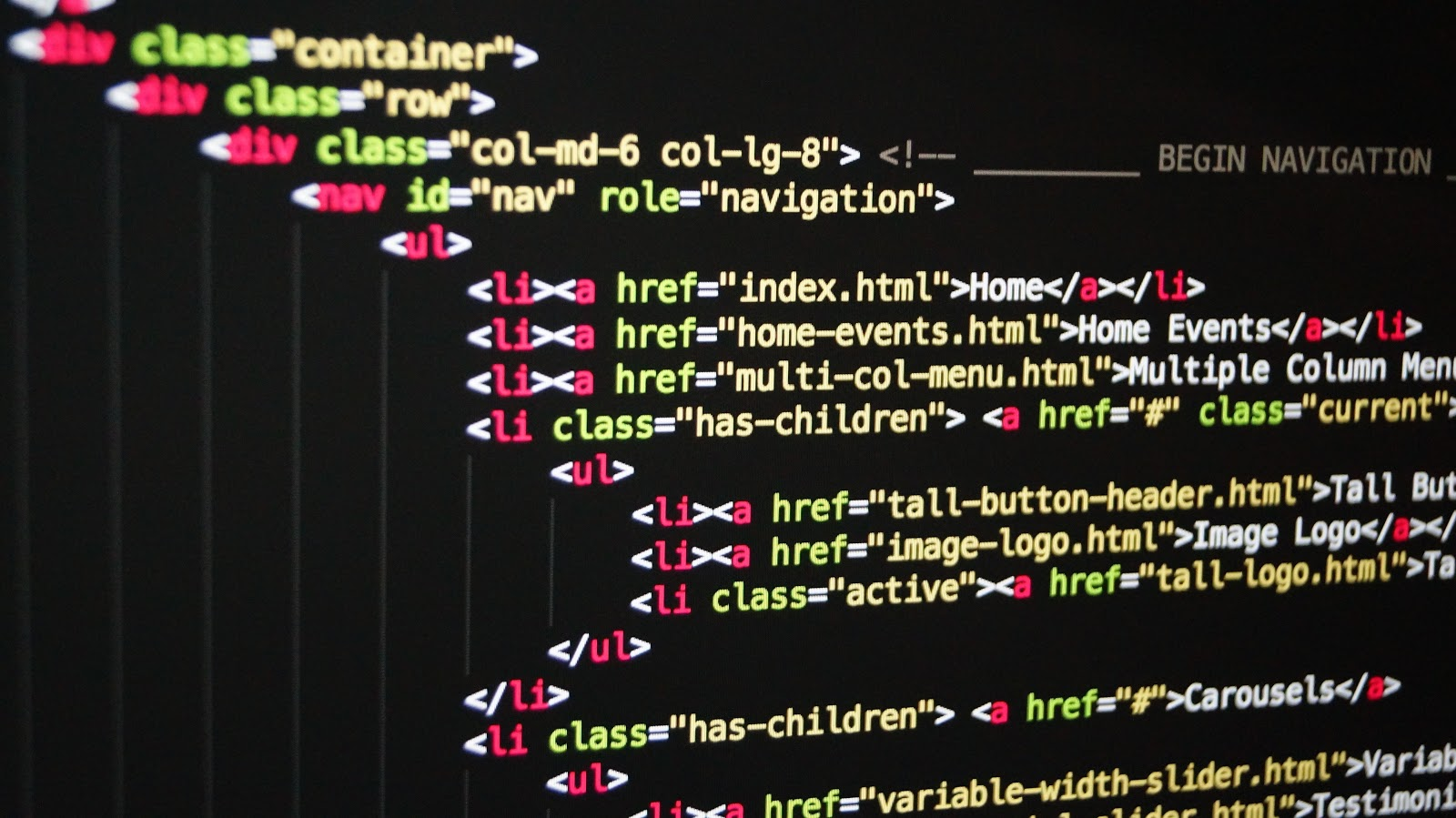 HTML on a monitor