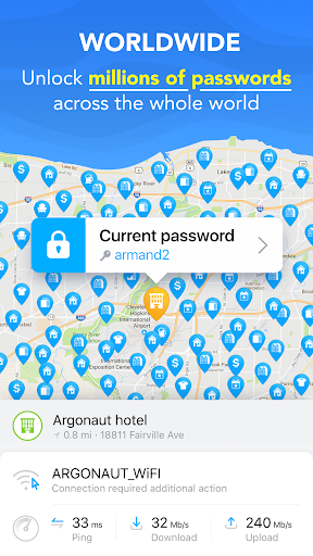 Free WiFi Passwords & Internet Hotspot by WiFi Map 5.2.8 screenshots 6