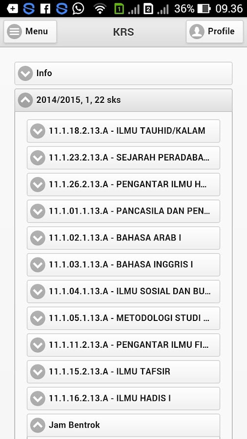 eCampus IAIN Bengkulu- screenshot