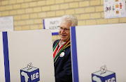 Alan Winde DA premier candidate in the Western Cape casts his vote.
