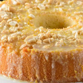 Orange Glazed Chiffon Cake.