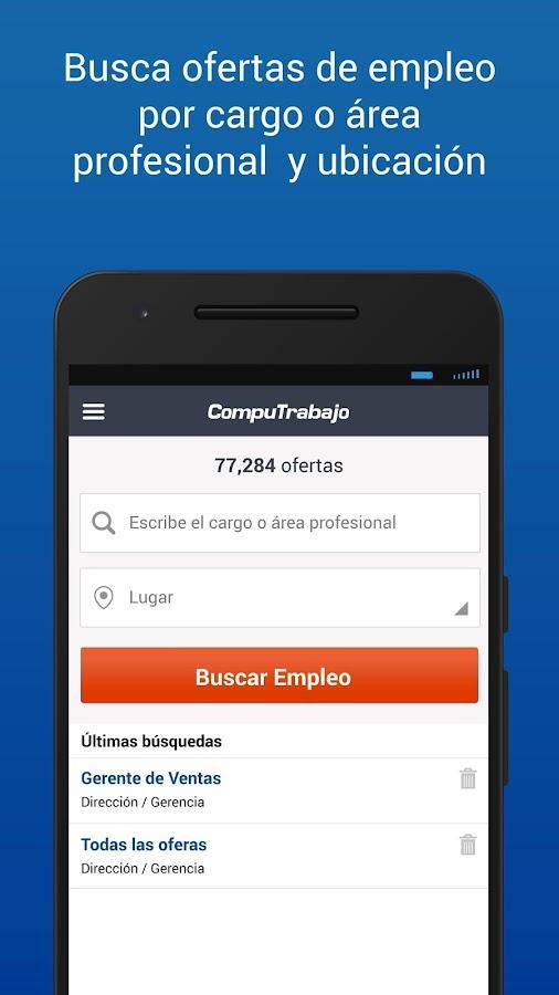 Miles de empresas publican las mejores ofertas en la bolsa de trabajo CompuTrabajo Perú. Busca empleo y recibe gratis por e-mail las nuevas vacantes. ¡Apúntate ya y sé el primero en postular!