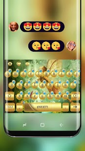 Forest Fairy Girl Keyboard Gold Butterfly Elf - náhled