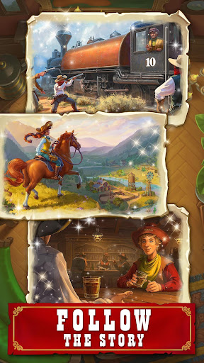 Jewels of the Wild West: Match gems & restore town android2mod screenshots 4