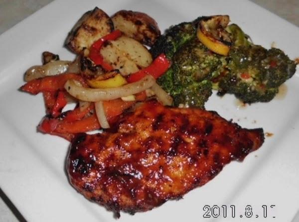 Grilled Bq Chicken And Veggies (made W/healthier Choices) Recipe
