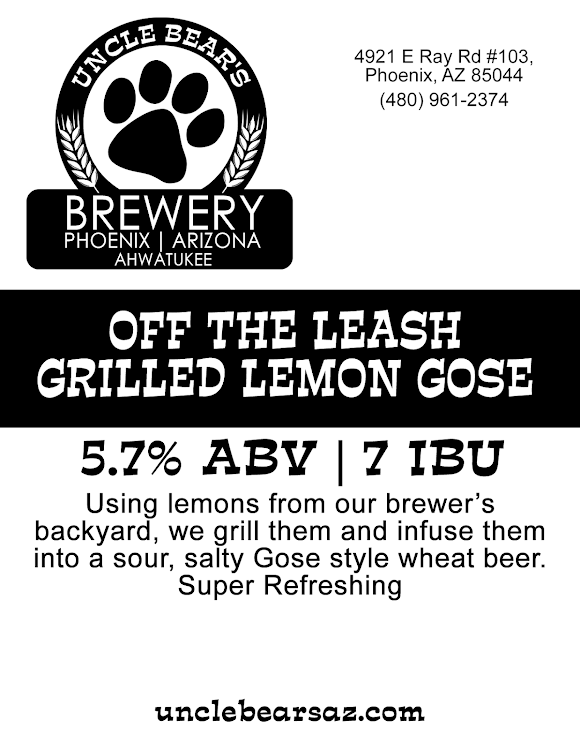 Logo of Uncle Bear's Off The Leash Grilled Lemon Gose