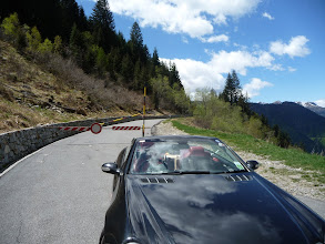 Photo: Mille Miglia tour 2012 Wednesday, day 6, San Marco Pass near Lake Como, ( the pass was closed due to snow)