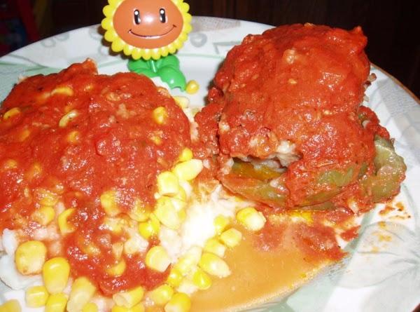My plate with mash potatoes and corn and sauce ..lol.. sooo yummy...