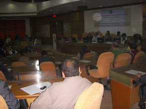 Photo: view of audience and dias