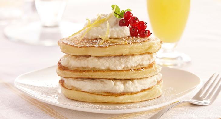 Lemon Ricotta Pancakes with Lemon Ricotta Cream Recipe