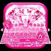 Pink Sparkle Diamond Keyboard Theme