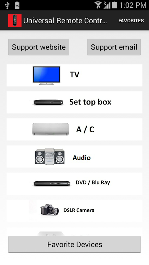 Universal Remote Control P- screenshot