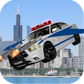 Flying Police Car Chase 2017 : Flying Car Game