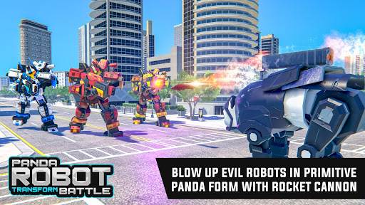 Police Panda Robot Car Transform: Flying Car Games apktram screenshots 4