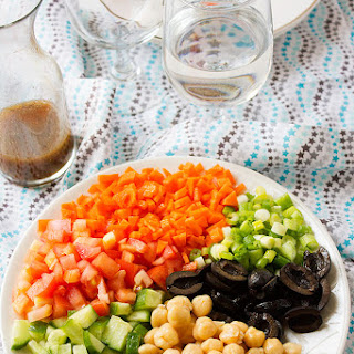 Chickpea Salad and Simple Dressing Recipe