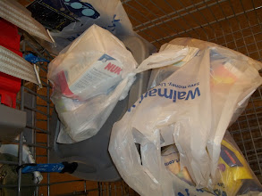 Photo: Our full load didn't look like nearly as much once it was in bags.