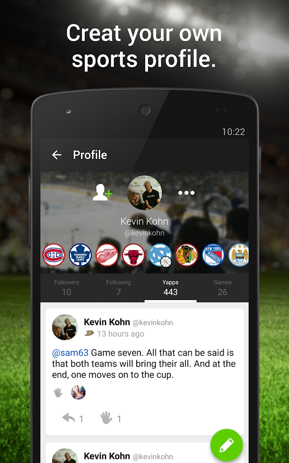 SportsYapper- screenshot