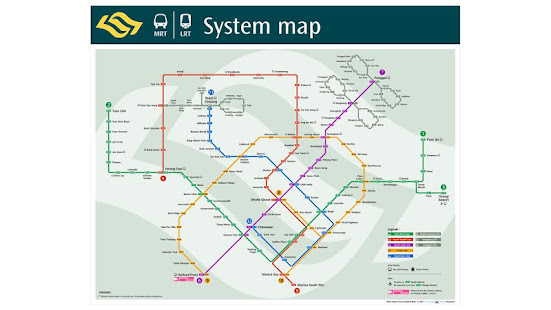 Subway Map Singapore