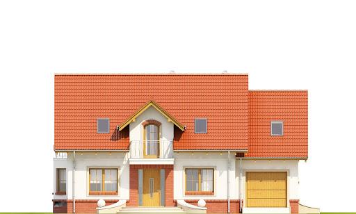 Dom Dla Ciebie 1 w2 z garażem 1-st. A - Elewacja przednia