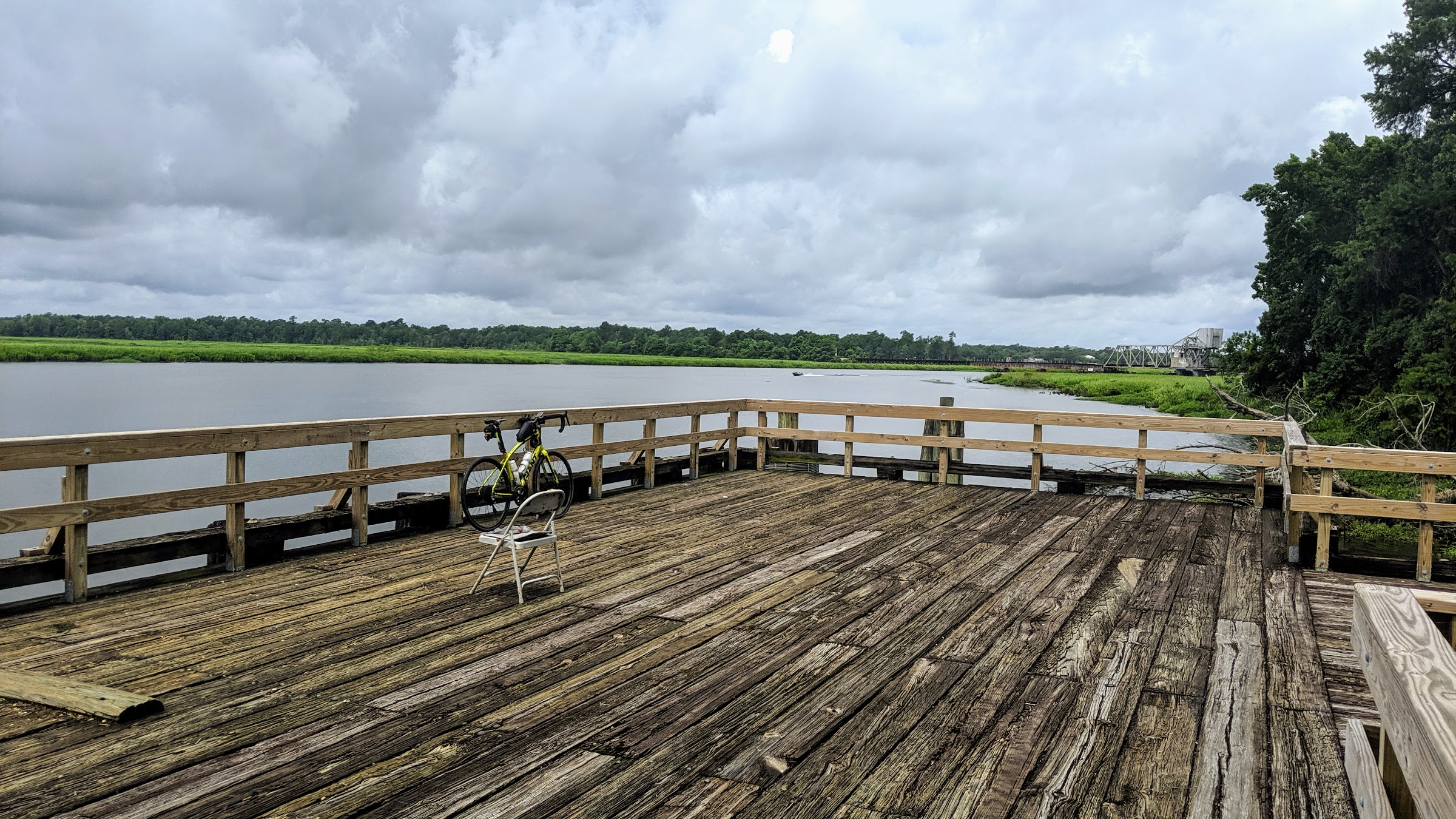 Fishing dock on the Cooper River