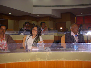 Photo: Professor Rekha Jain, IIM Ahmedabad giving presentation.