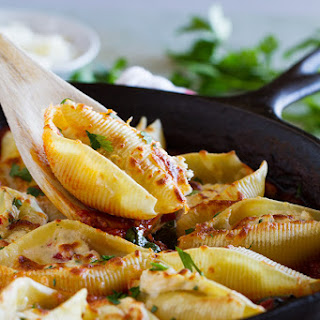 Stuffed Pasta Shells with Easy Bolognese Sauce