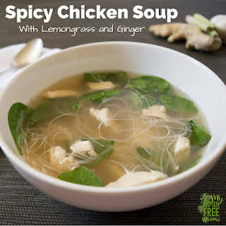 Spicy Chicken Soup with Lemongrass and Ginger.