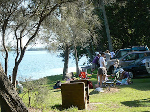 Photo: Planning time by the lake - Walkabout in a Water Wonderland - Wallarah 6 hour Metrogaine, 10 Feb 2013