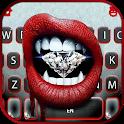 Diamond Lips Keyboard Background icon